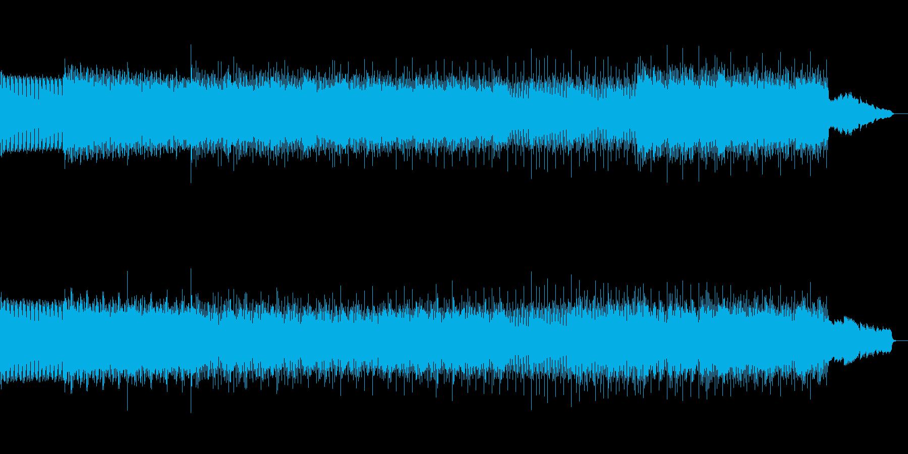 海をイメージしたBGMの再生済みの波形