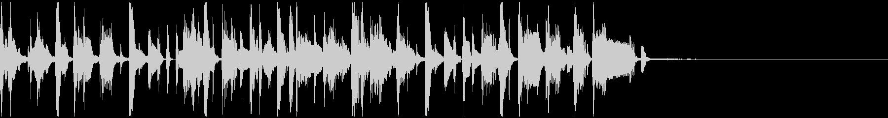 シンセやホーンを使ったコミカルなジングルの未再生の波形