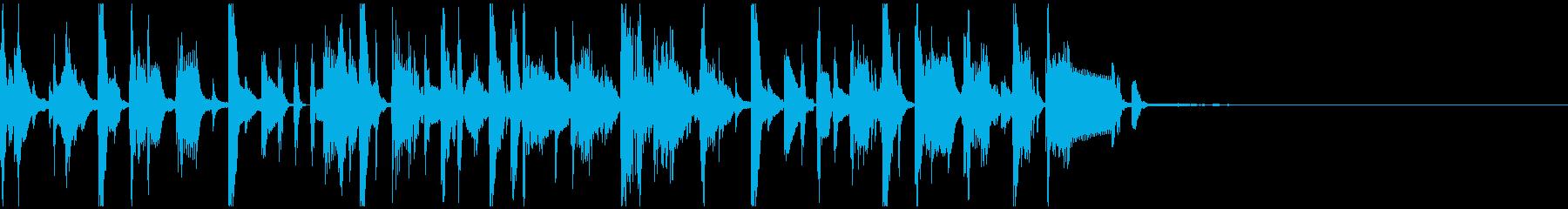 シンセやホーンを使ったコミカルなジングルの再生済みの波形