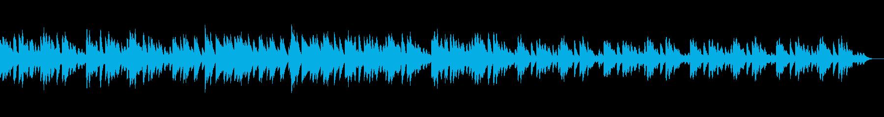 神秘的で、どこか物悲しくもある曲の再生済みの波形