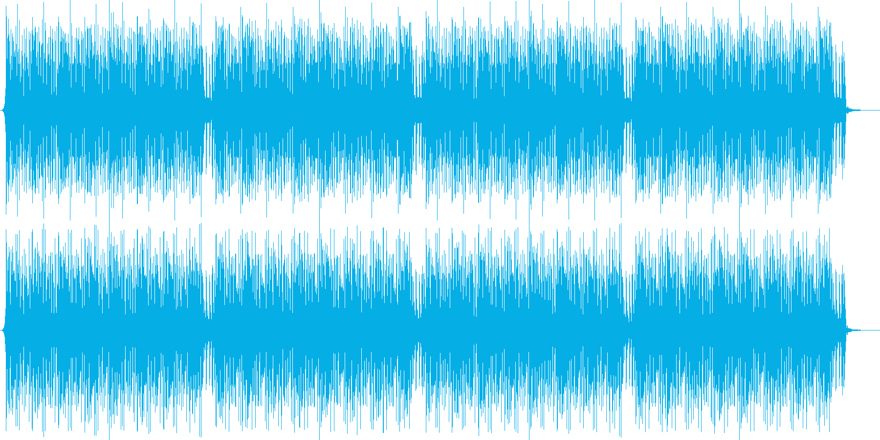 ニュース読みのBGM/四つ打ち/ハウス寄の再生済みの波形