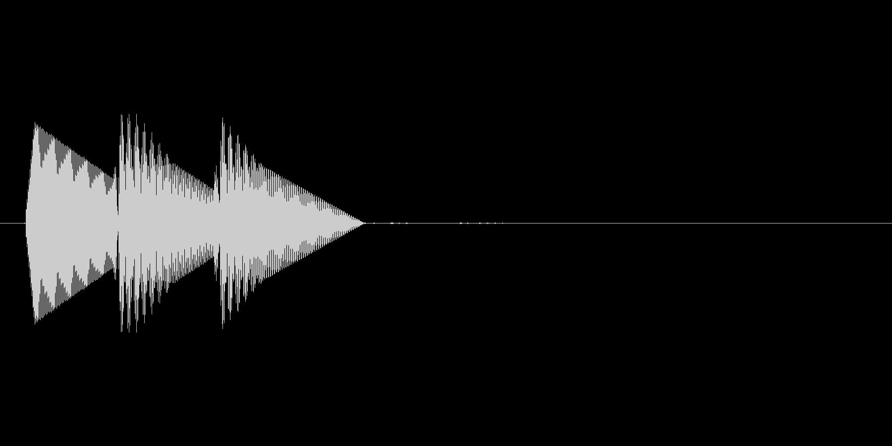8bitのシステム音ピロン↓低音の未再生の波形