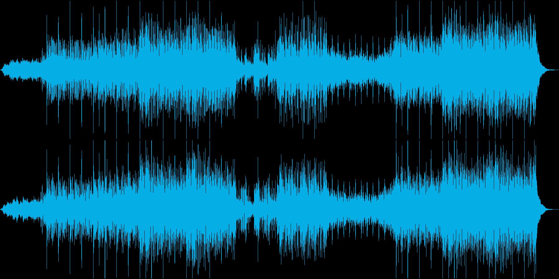 エキゾチックな民族調BGMの再生済みの波形