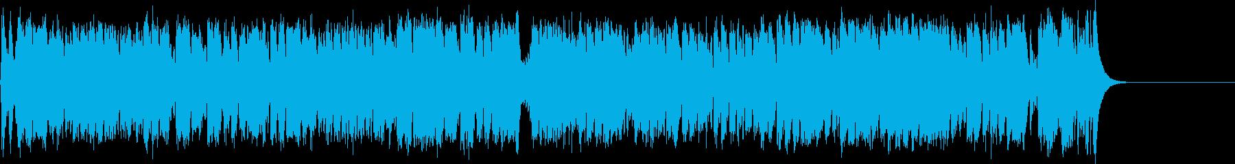 ピアノでクイックジングル。の再生済みの波形