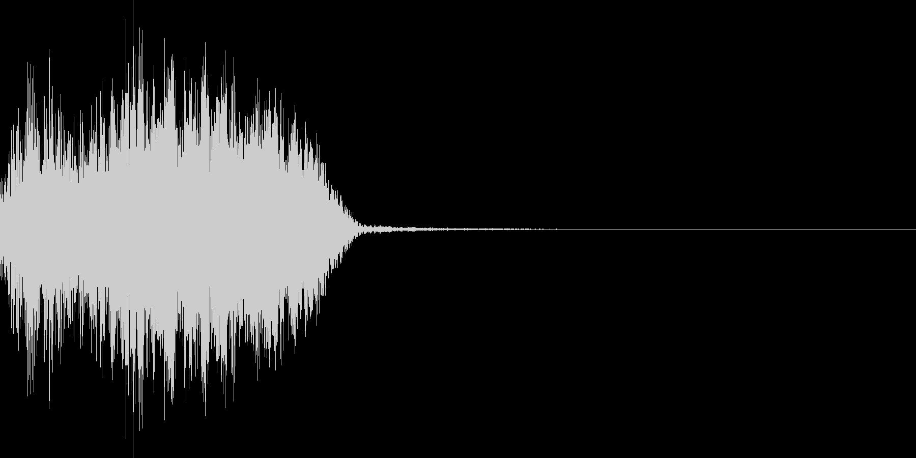 ビーム(中)のチャージ音の未再生の波形