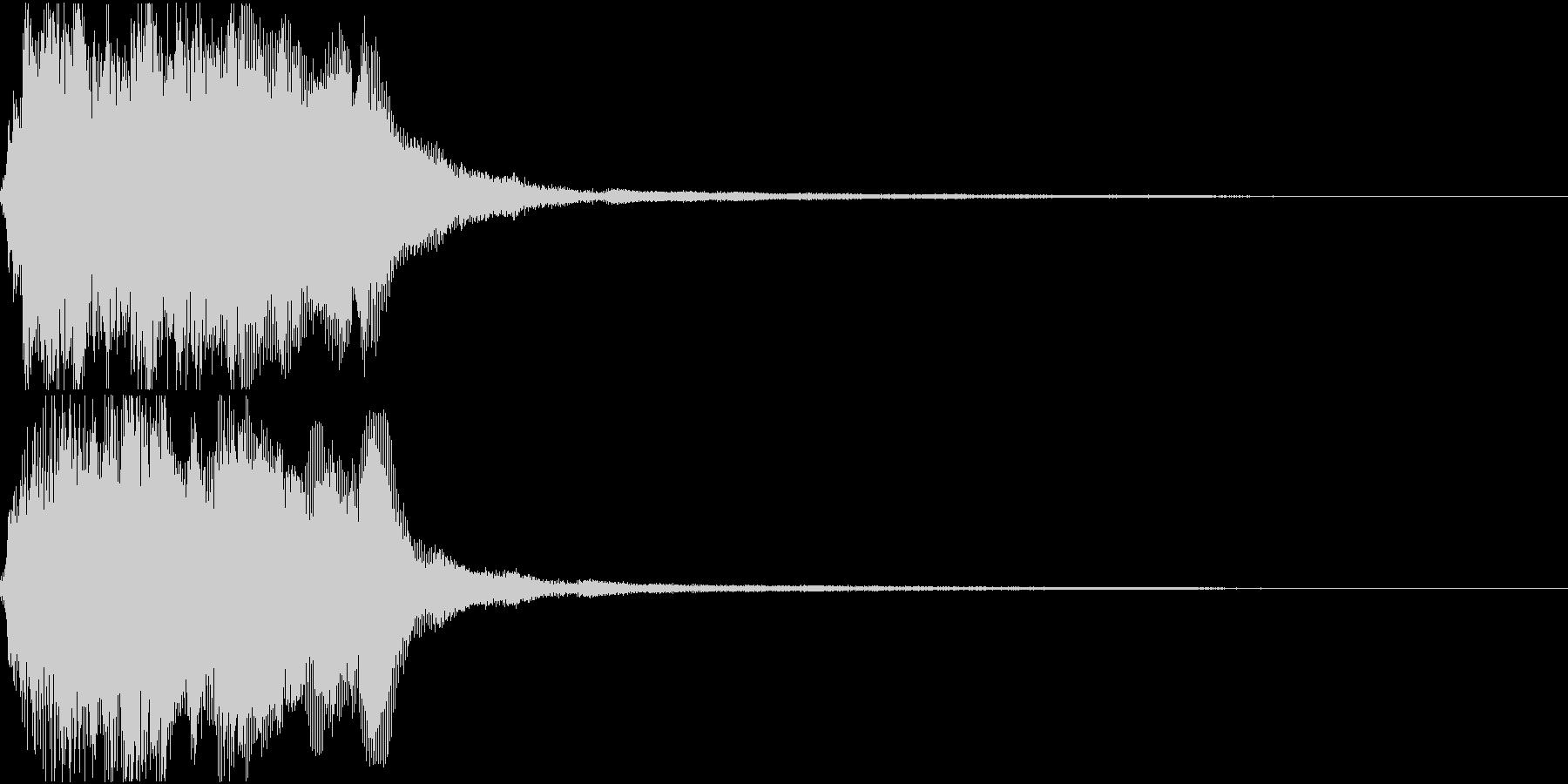 ラッパ ファンファーレ 定番 2 早いの未再生の波形