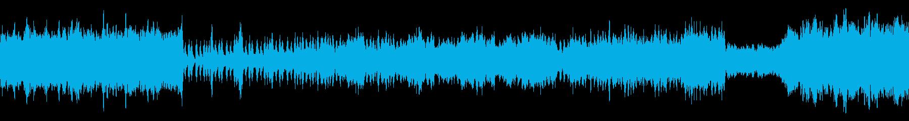 ボス戦をイメージしたオーケストラBGMの再生済みの波形