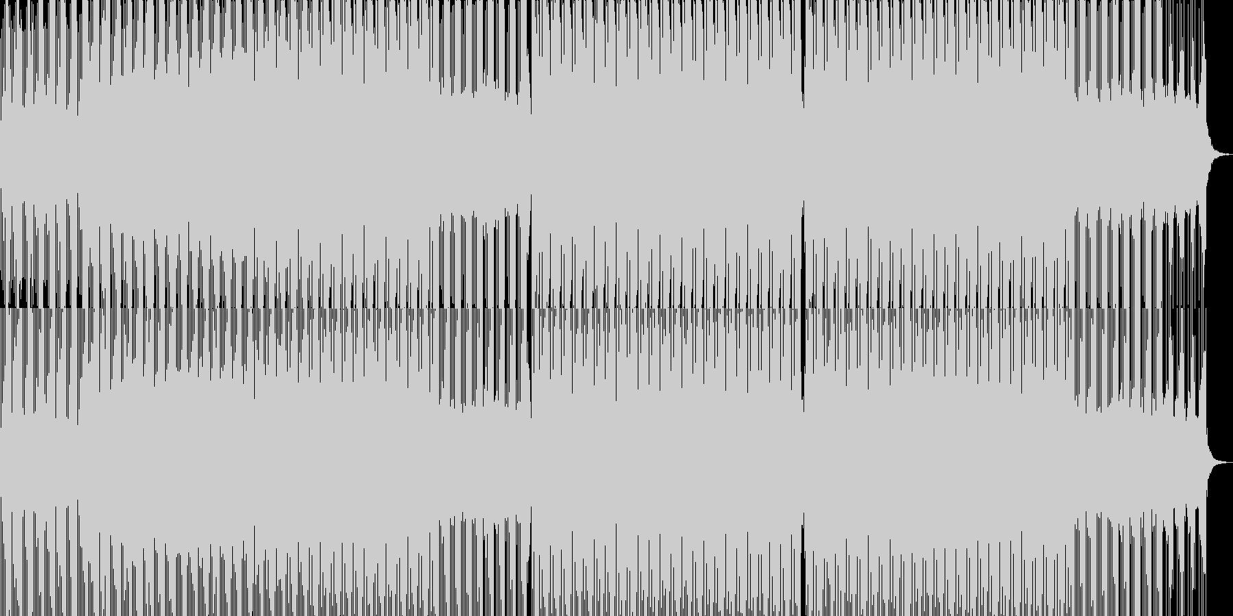 神秘的な4つ打ちハウスミュージックの未再生の波形
