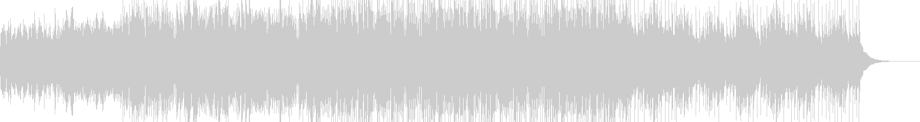 シンセサウンドの落ち着いたBGMの未再生の波形