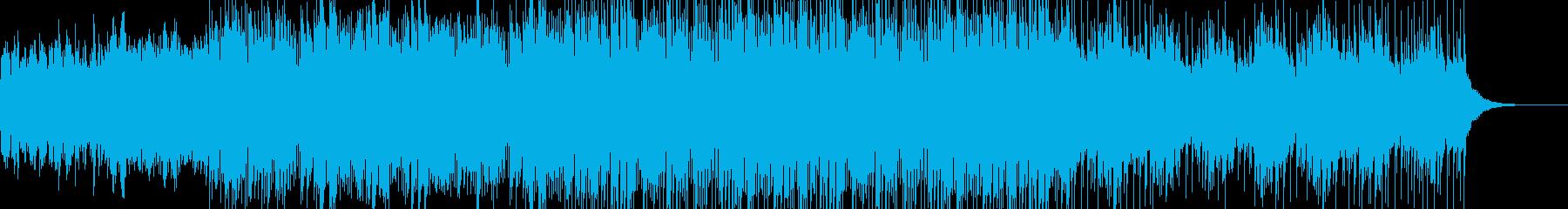 シンセサウンドの落ち着いたBGMの再生済みの波形