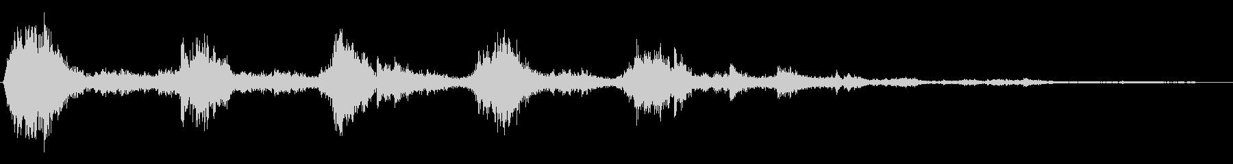 カランカラン(金属が擦り合う効果音)の未再生の波形