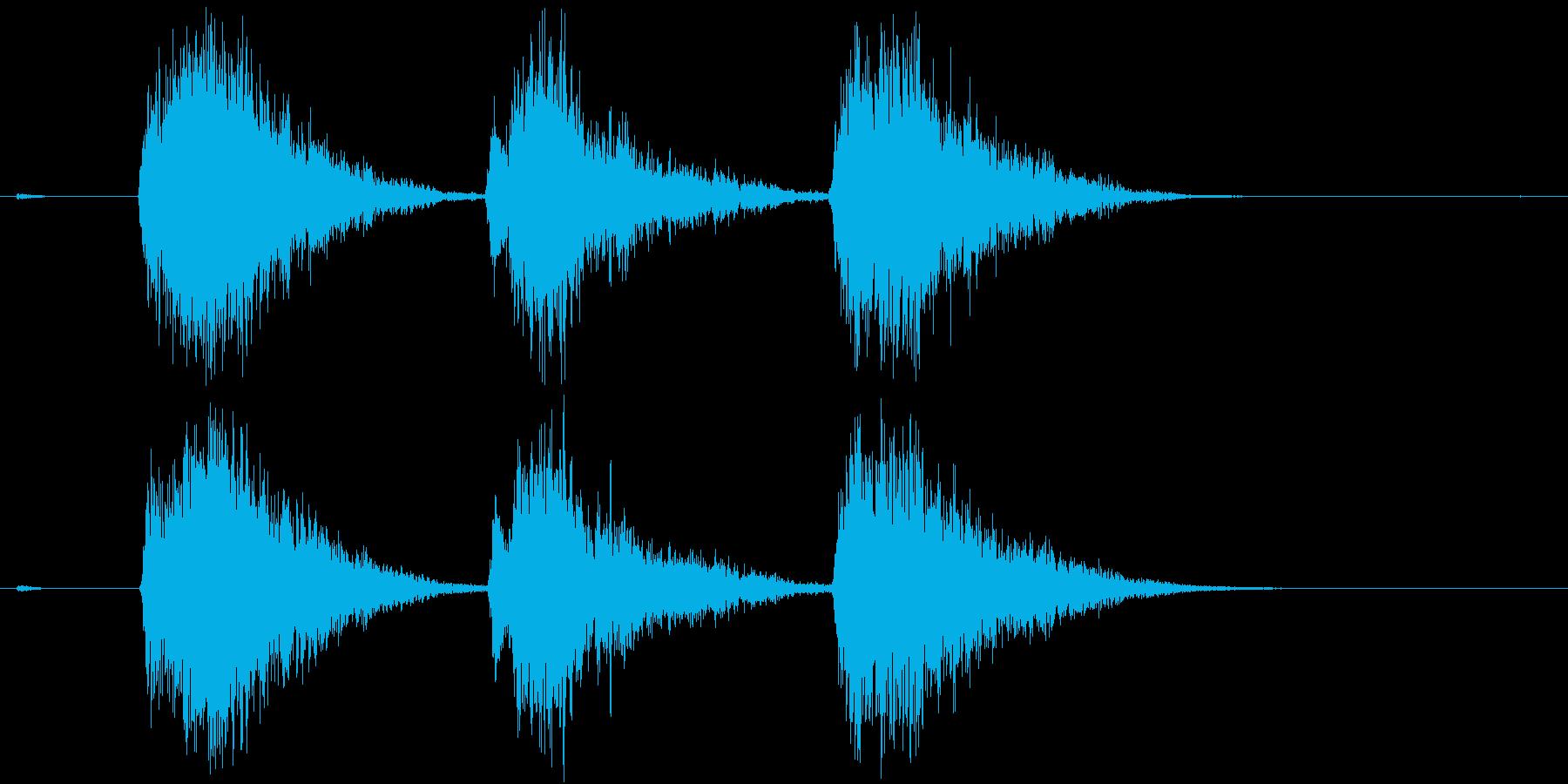 ゲーム等、開始前カウント(3-2-1)Jの再生済みの波形
