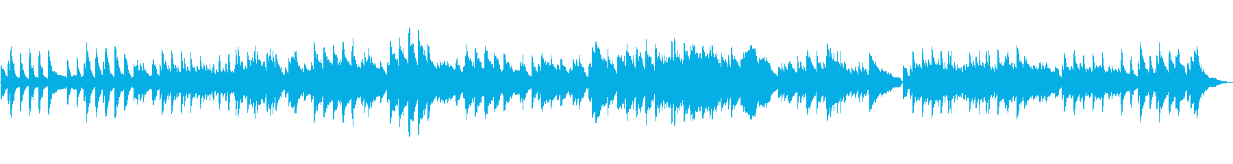 クラシック風のシンプルなピアノソロの作品の再生済みの波形