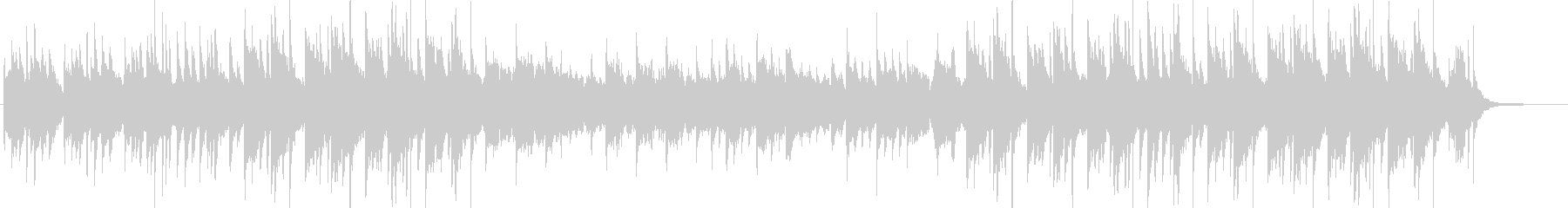 琴と篠笛でスタイリッシュに編曲したBGMの未再生の波形