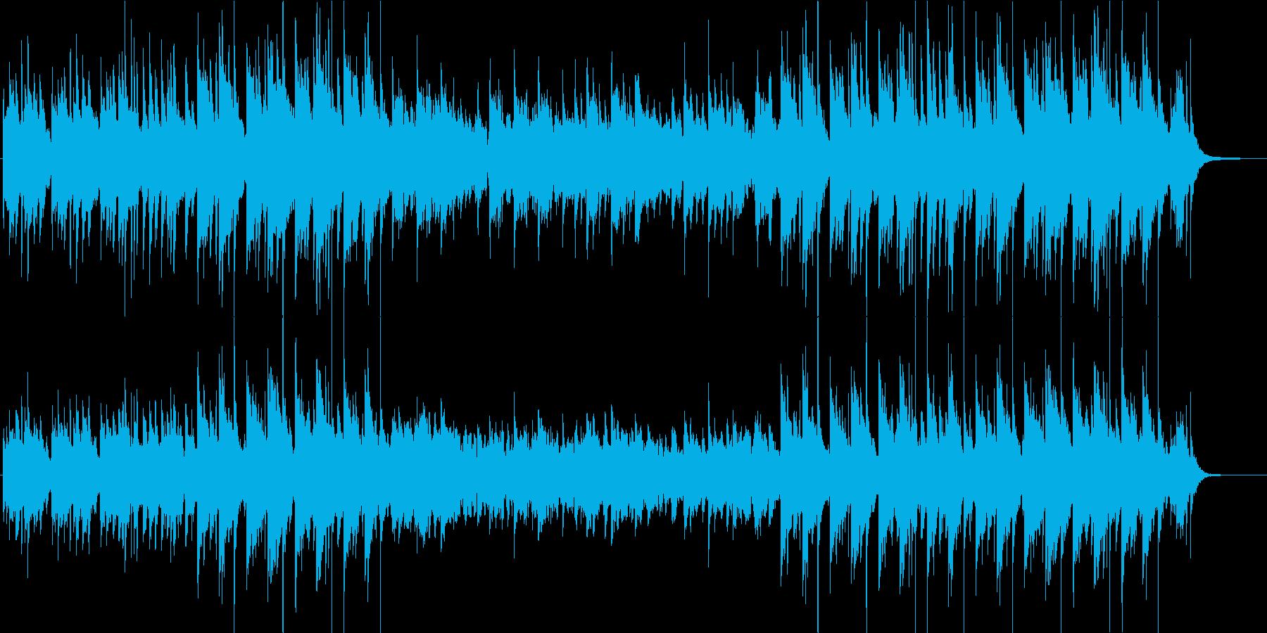 琴と篠笛でスタイリッシュに編曲したBGMの再生済みの波形