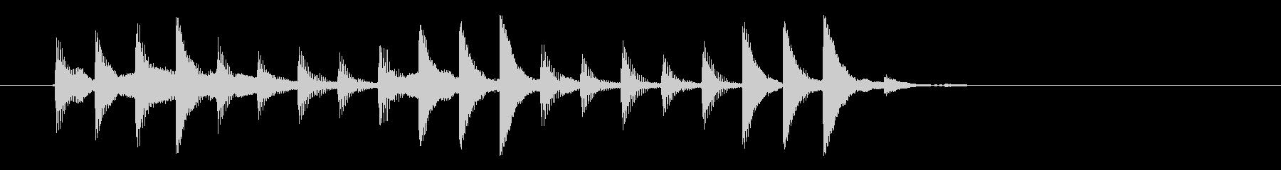 幻想的でゆったりとしたテクノ音楽の未再生の波形