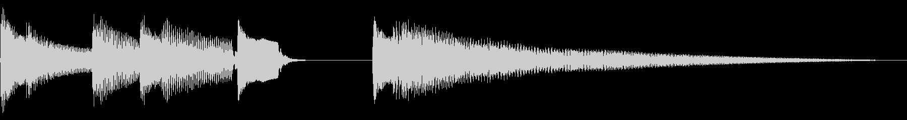 明るく弾むような音色のジングルの未再生の波形