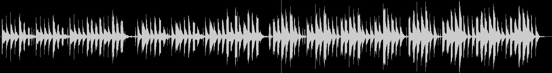 ほのぼのとした場面に使えるシンプルな曲の未再生の波形
