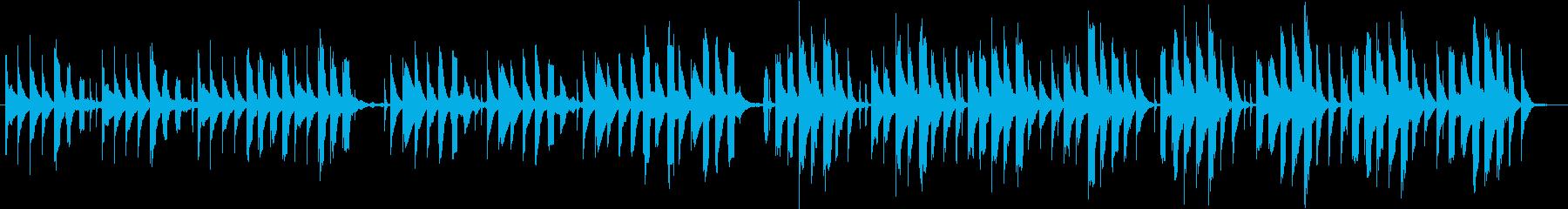 ほのぼのとした場面に使えるシンプルな曲の再生済みの波形