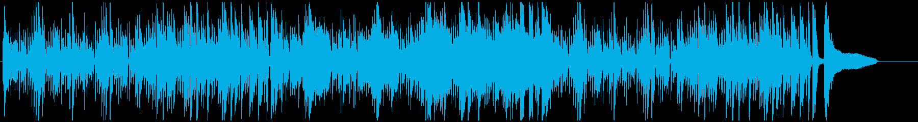 爽やかな午後をイメージしたボサノヴァ曲の再生済みの波形