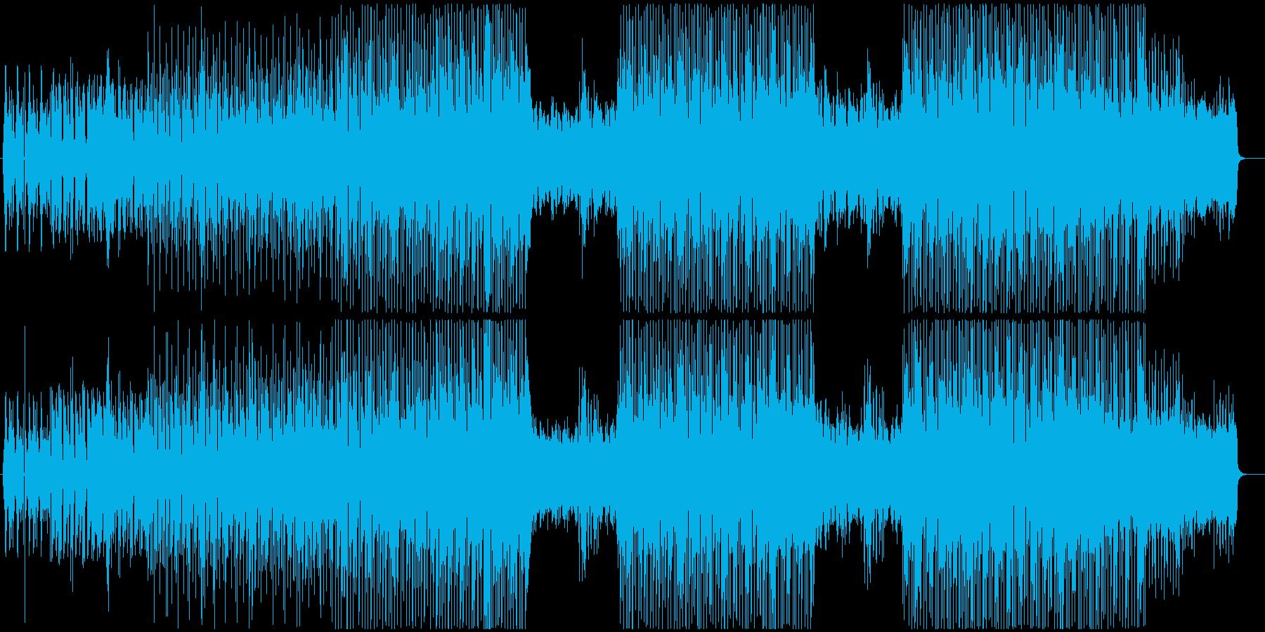 都会的なピアノリフのエレクトロニックの再生済みの波形