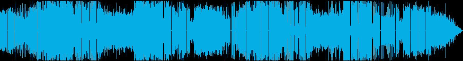 明るいエスニック風エレクトロニックハウスの再生済みの波形