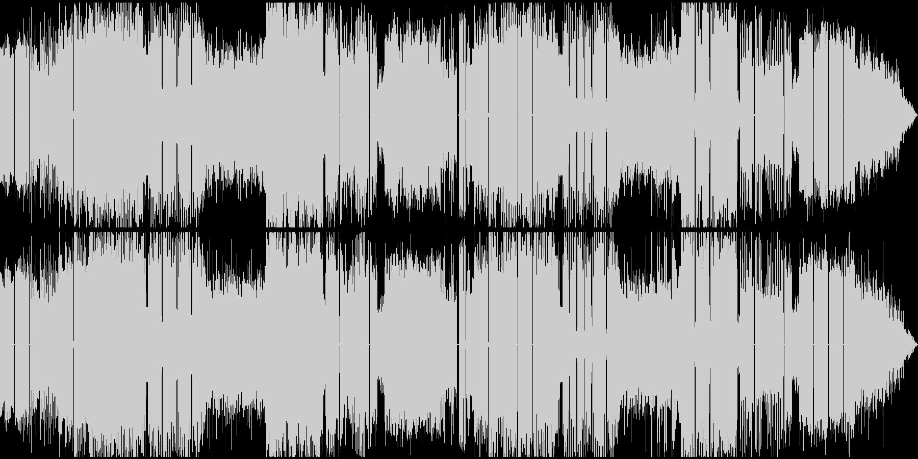 明るいエスニック風エレクトロニックハウスの未再生の波形
