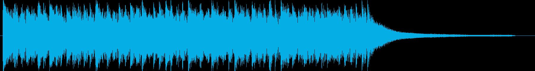 ポジティブなライトロック♪ロゴ・ジングルの再生済みの波形