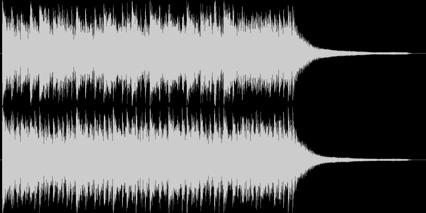 ポジティブなライトロック♪ロゴ・ジングルの未再生の波形
