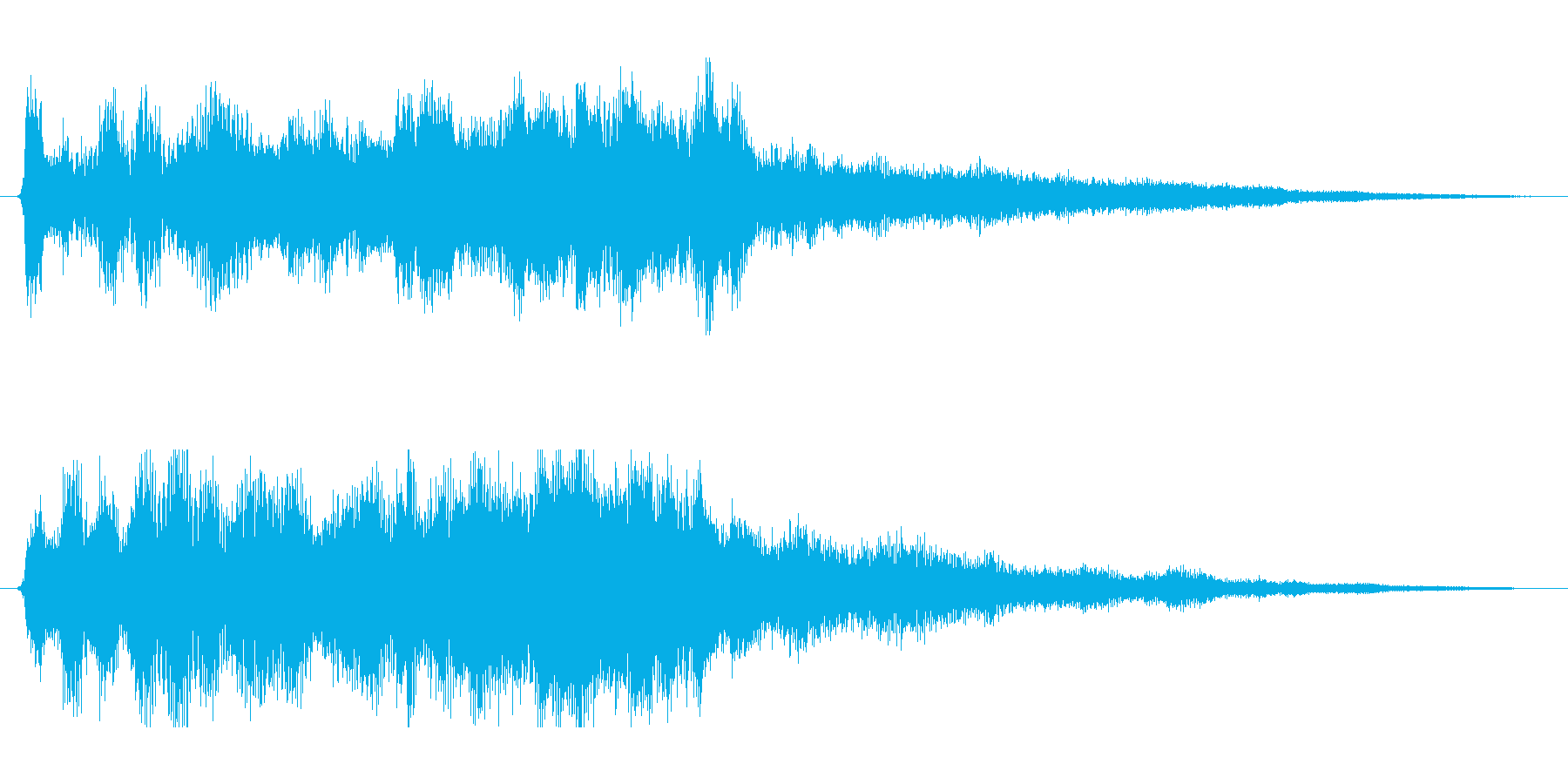 さわやかで綺麗なジングル アプリ起動音等の再生済みの波形