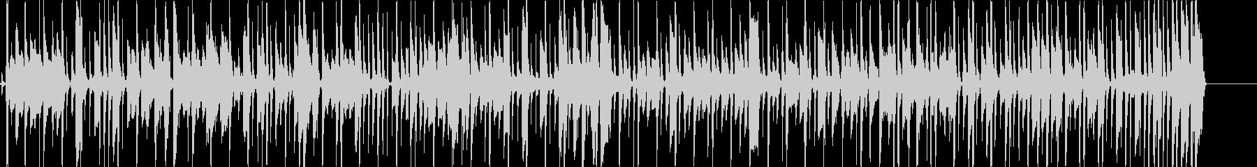 ファンキーでコミカルな曲の未再生の波形