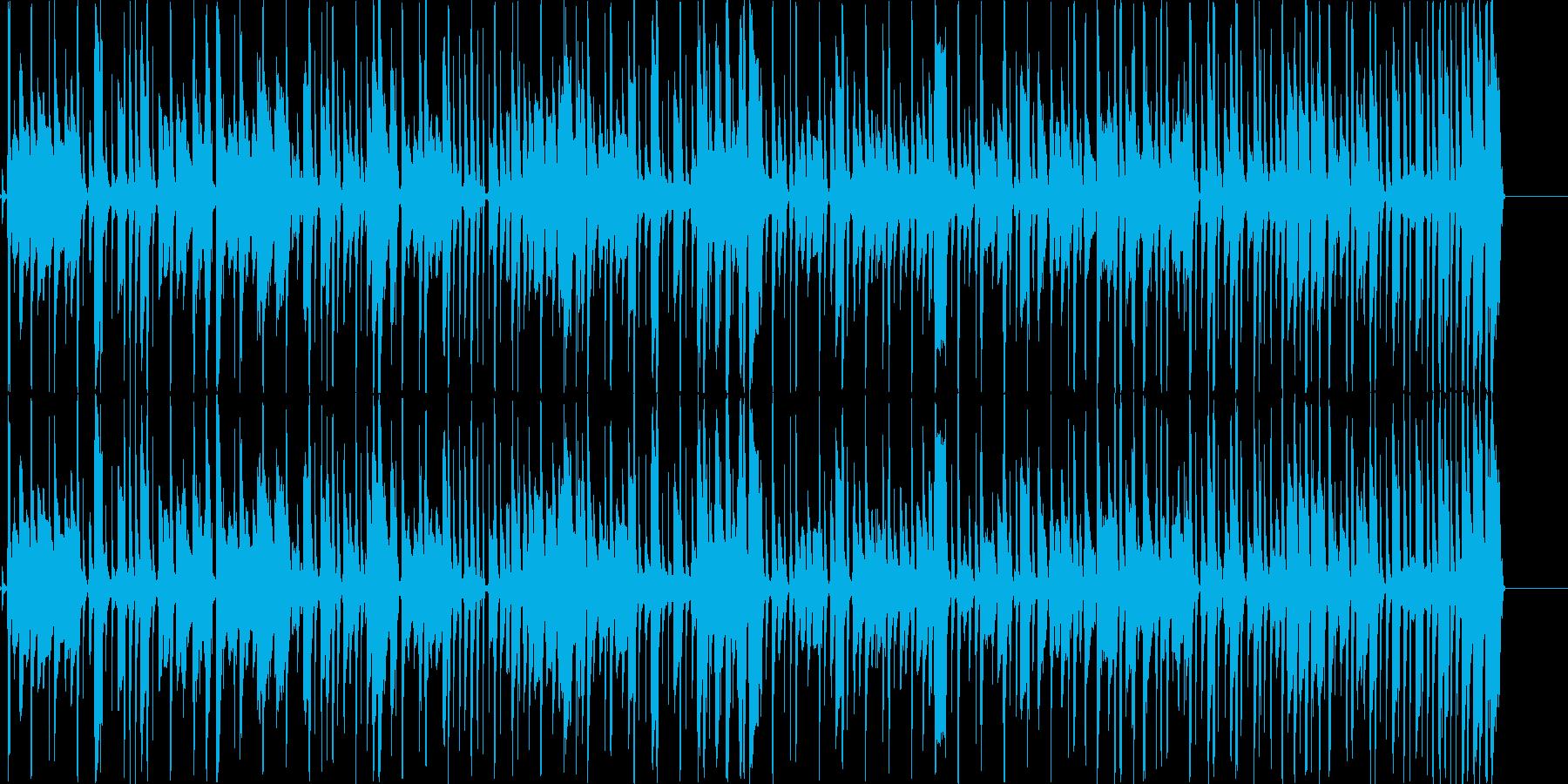 ファンキーでコミカルな曲の再生済みの波形