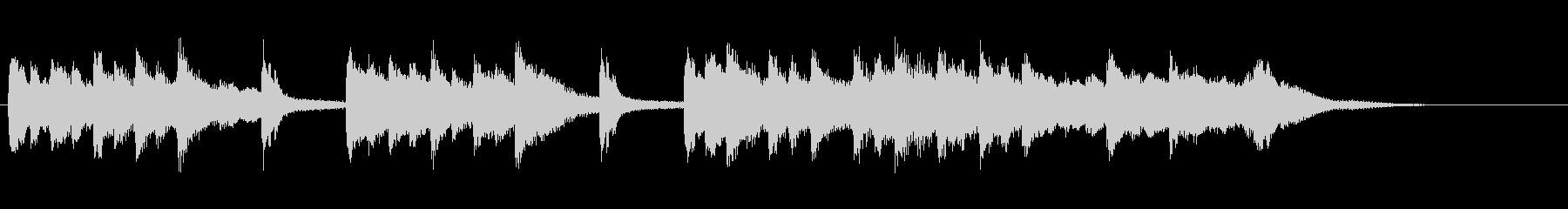 TV・ラジオ音圧。琴笛を使った邦楽出囃子の未再生の波形