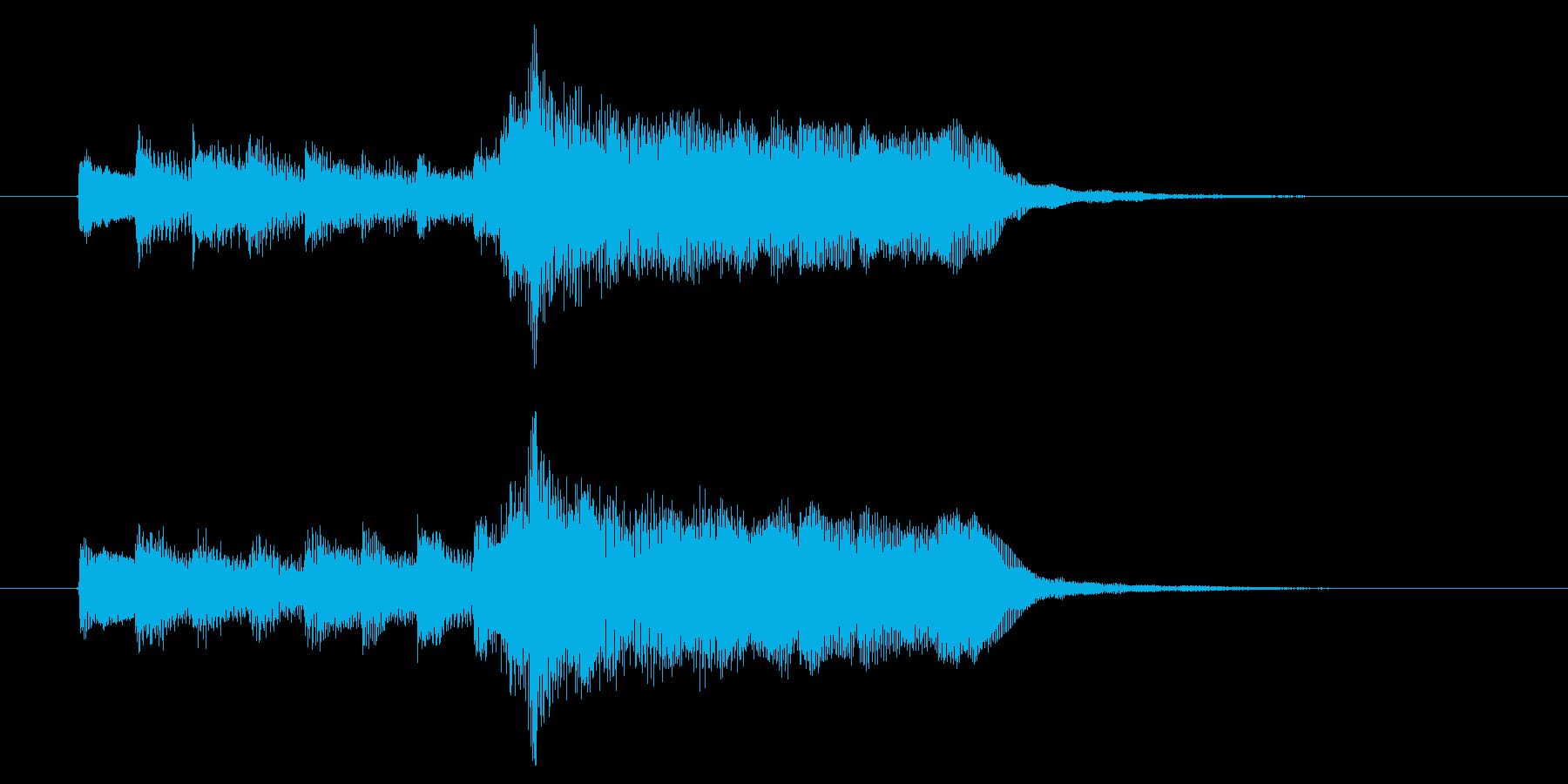 甘美で伸びやかなBGMサウンドの再生済みの波形