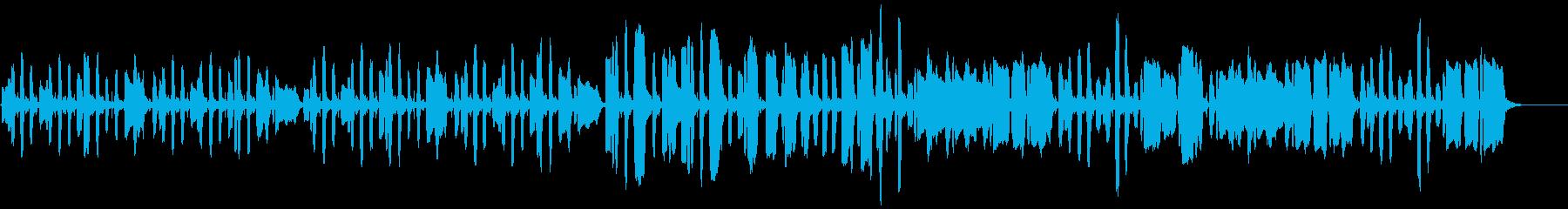 リコーダーのほのぼのBGMの再生済みの波形