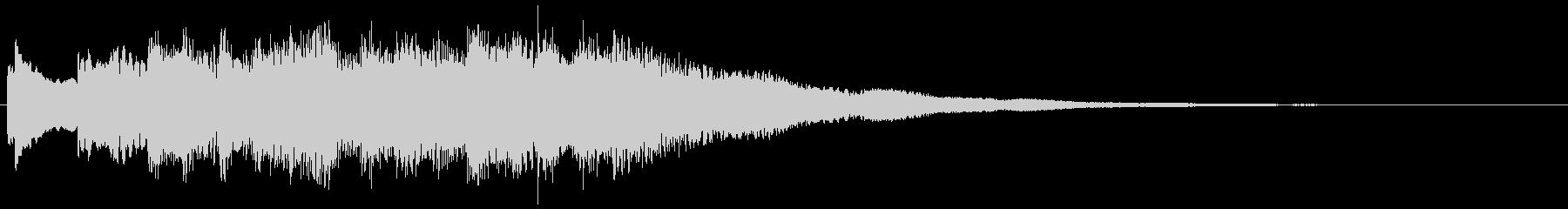 澄んだフレーズの場面転換 転回音 切替の未再生の波形