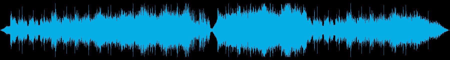 ダンジョン探索をイメージした管弦楽の再生済みの波形