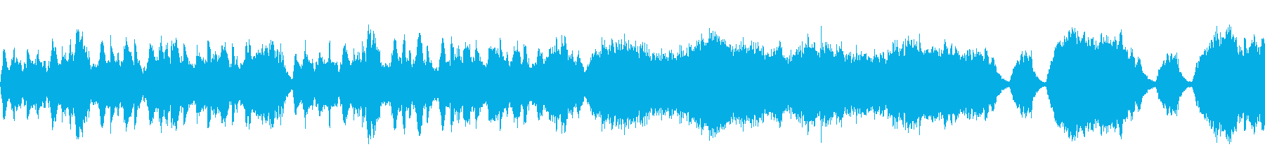 静かな山村をイメージした弦と木管が主の曲の再生済みの波形