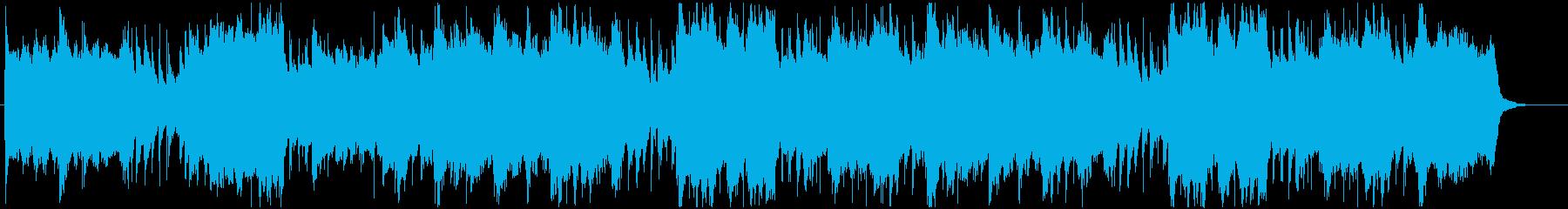 ハープ、マンドリン、ピアノのアクセ...の再生済みの波形