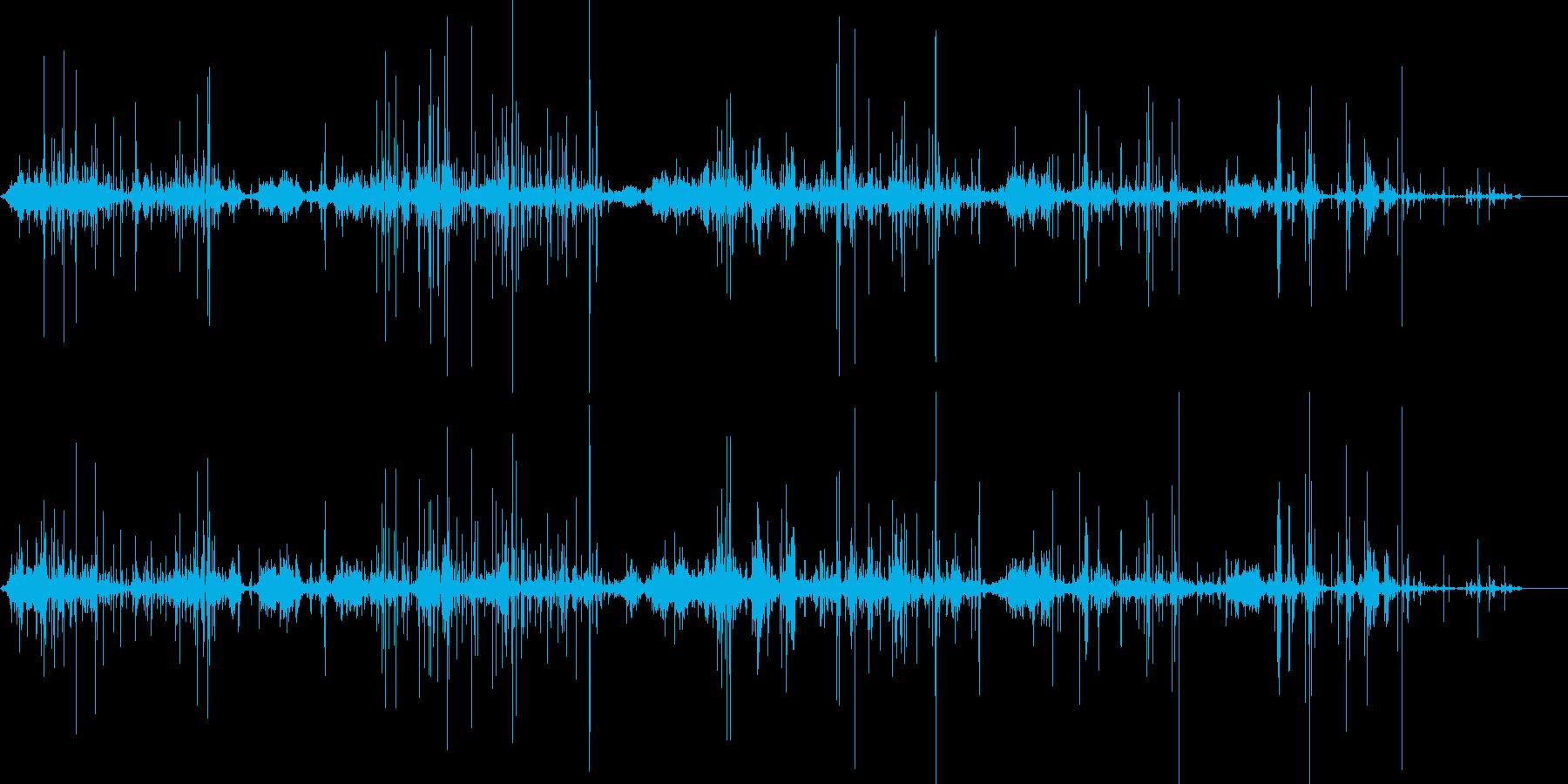 カサカサ(落花生の殻ASMR)Bの再生済みの波形