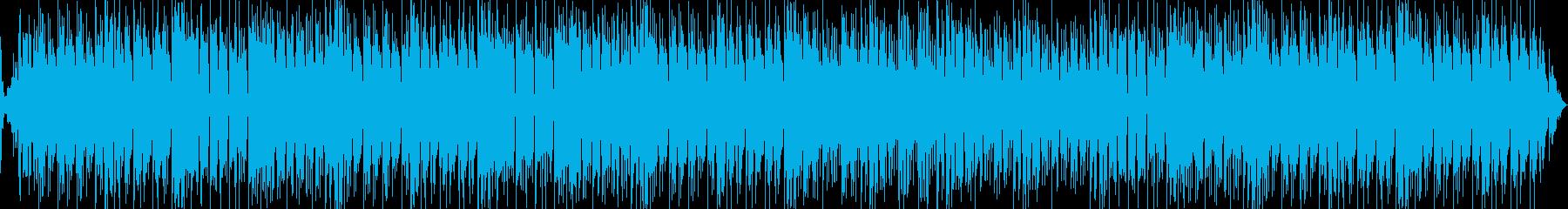グルーヴ感の入ったダンスミュージックの再生済みの波形