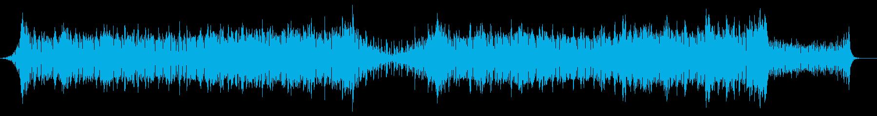 ゲーム向けのダークなBGMの再生済みの波形