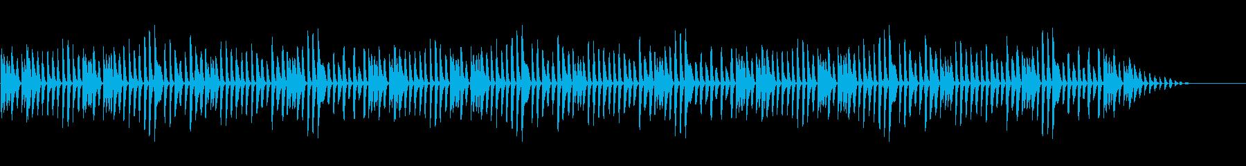童謡「茶色の小瓶」シンプルなピアノソロの再生済みの波形