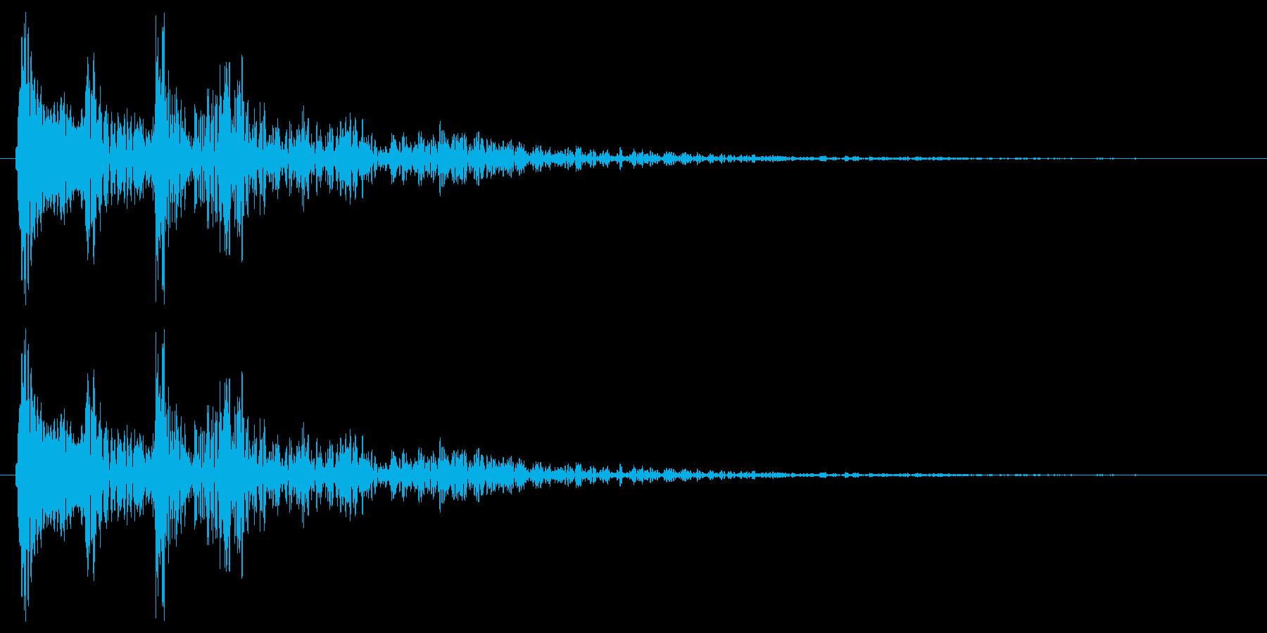 タップ、クリック(軽め打楽器系の音色)の再生済みの波形