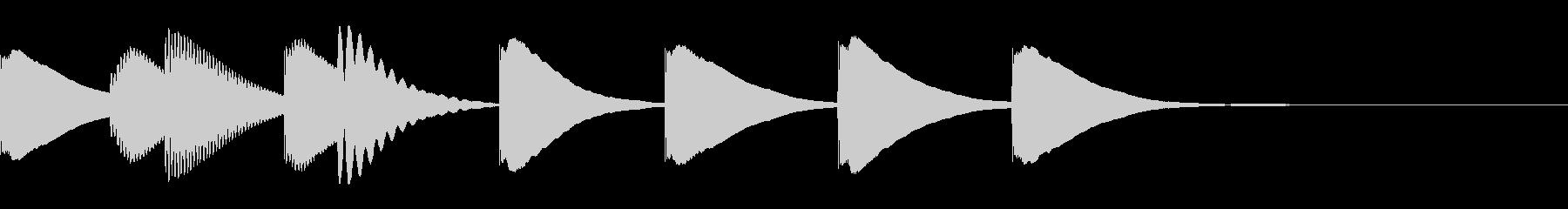 ジングル 木琴 日常 緩いの未再生の波形