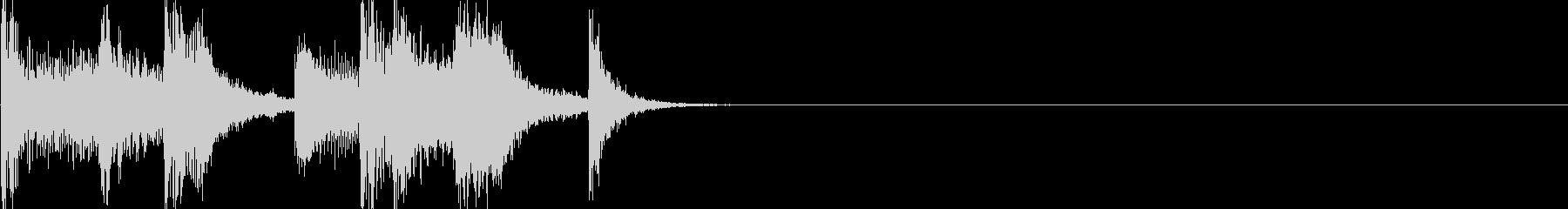 ちゃきちゃきジングルの未再生の波形