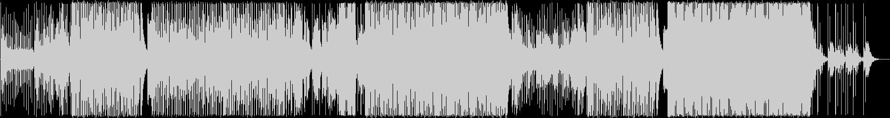 シンセサイザーとサックスの軽快な曲の未再生の波形
