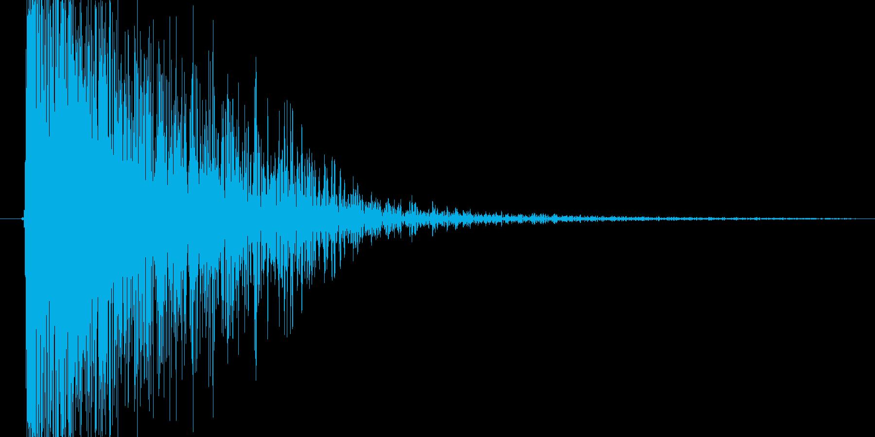 魔法を使ったようなピュルルルという音の再生済みの波形