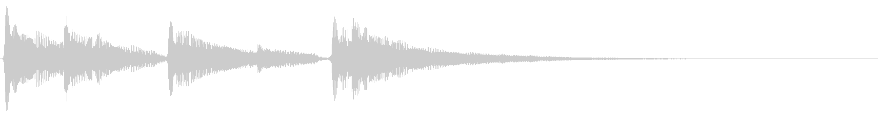 ★アコギ生音の落ち着いたジングルの未再生の波形