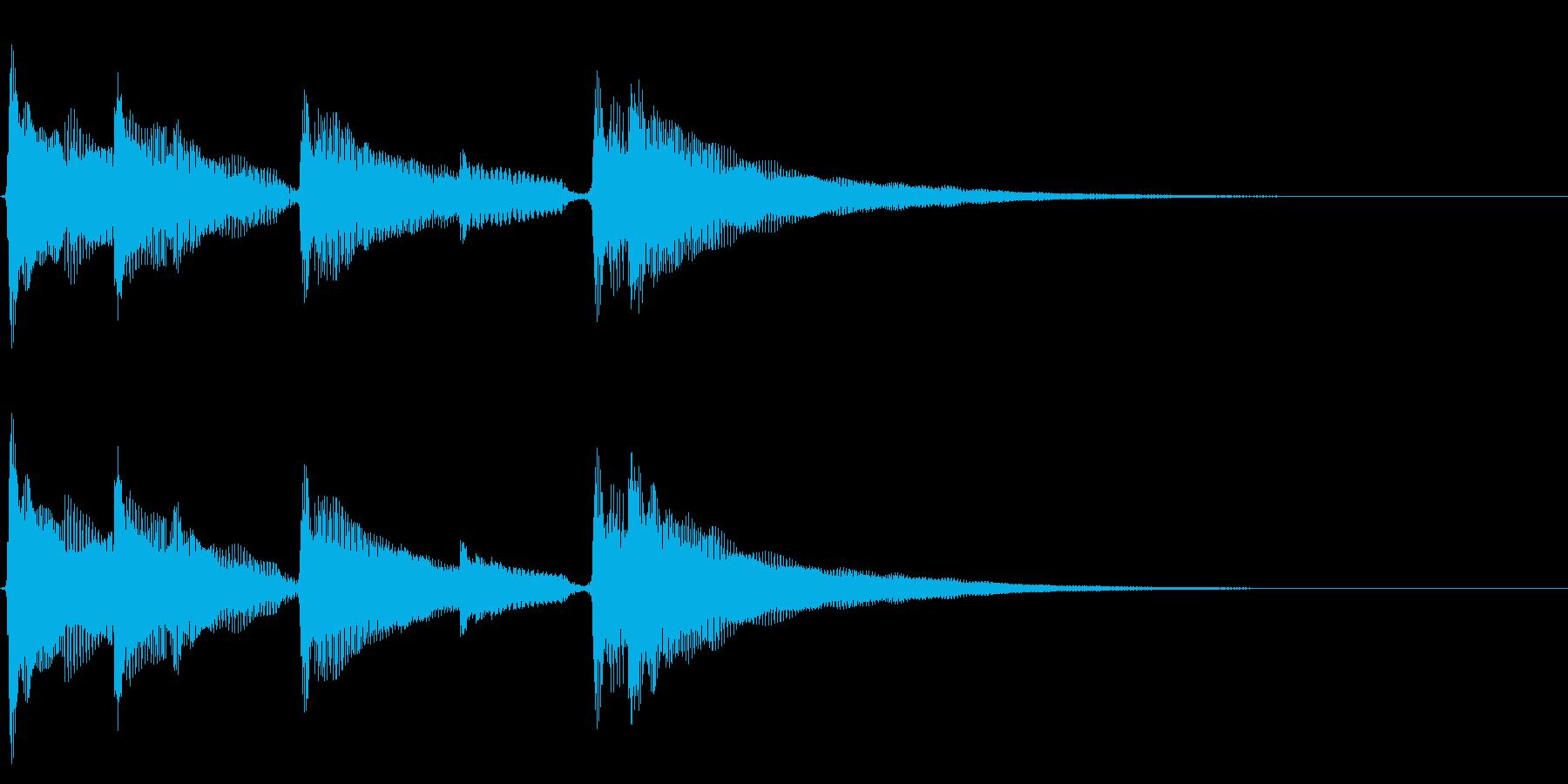 ★アコギ生音の落ち着いたジングルの再生済みの波形